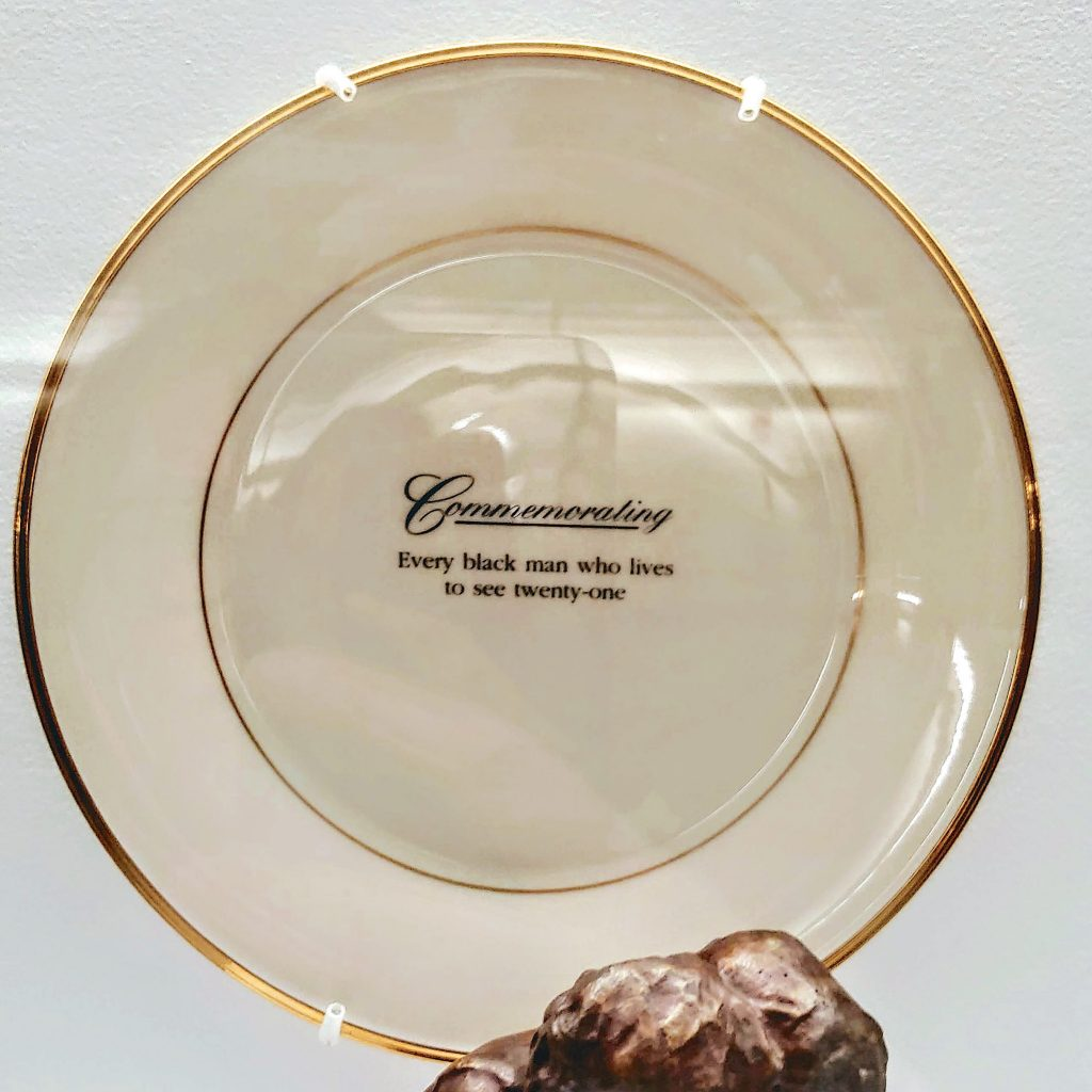 A plate by artist  Carrie Mae Weems